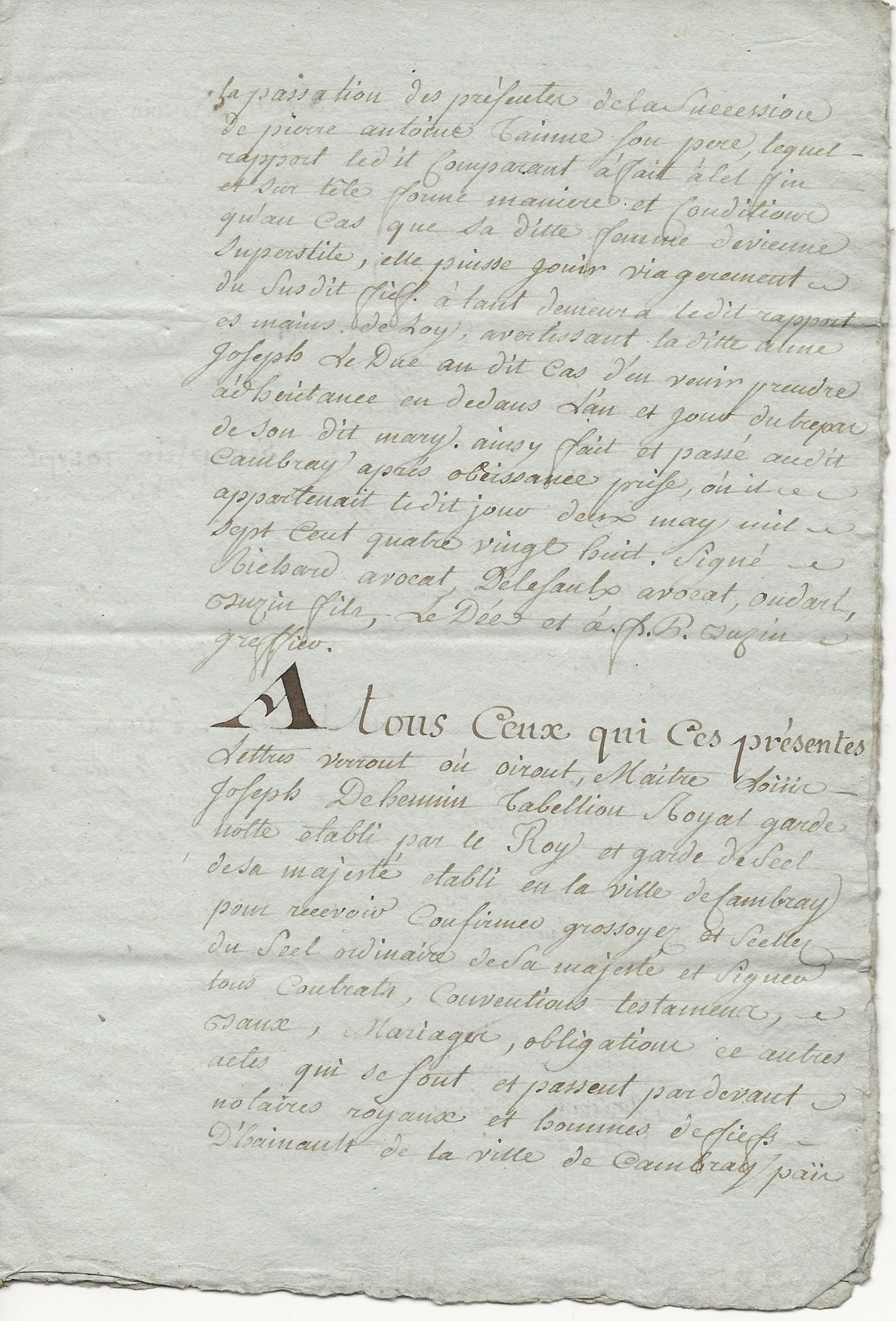 1788 contrat mariage seraphin taine x anne leduc 003