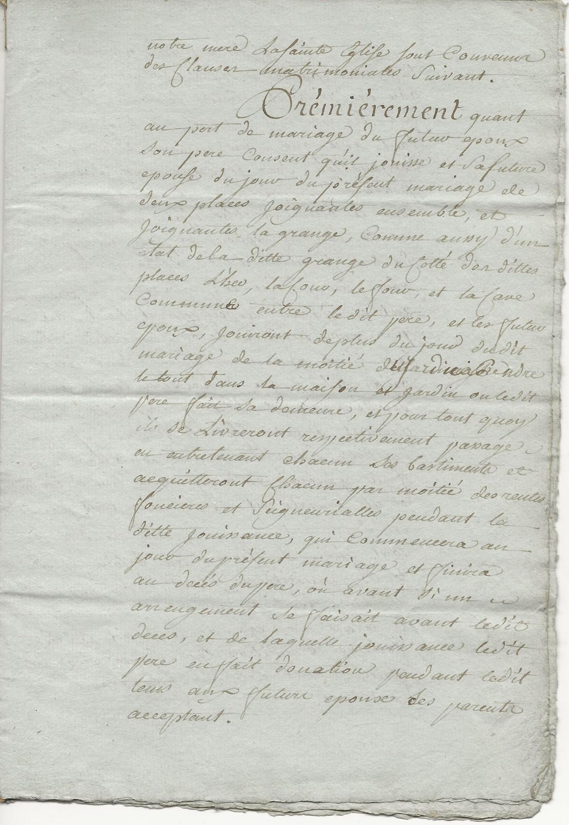 1788 contrat mariage seraphin taine x anne leduc 005