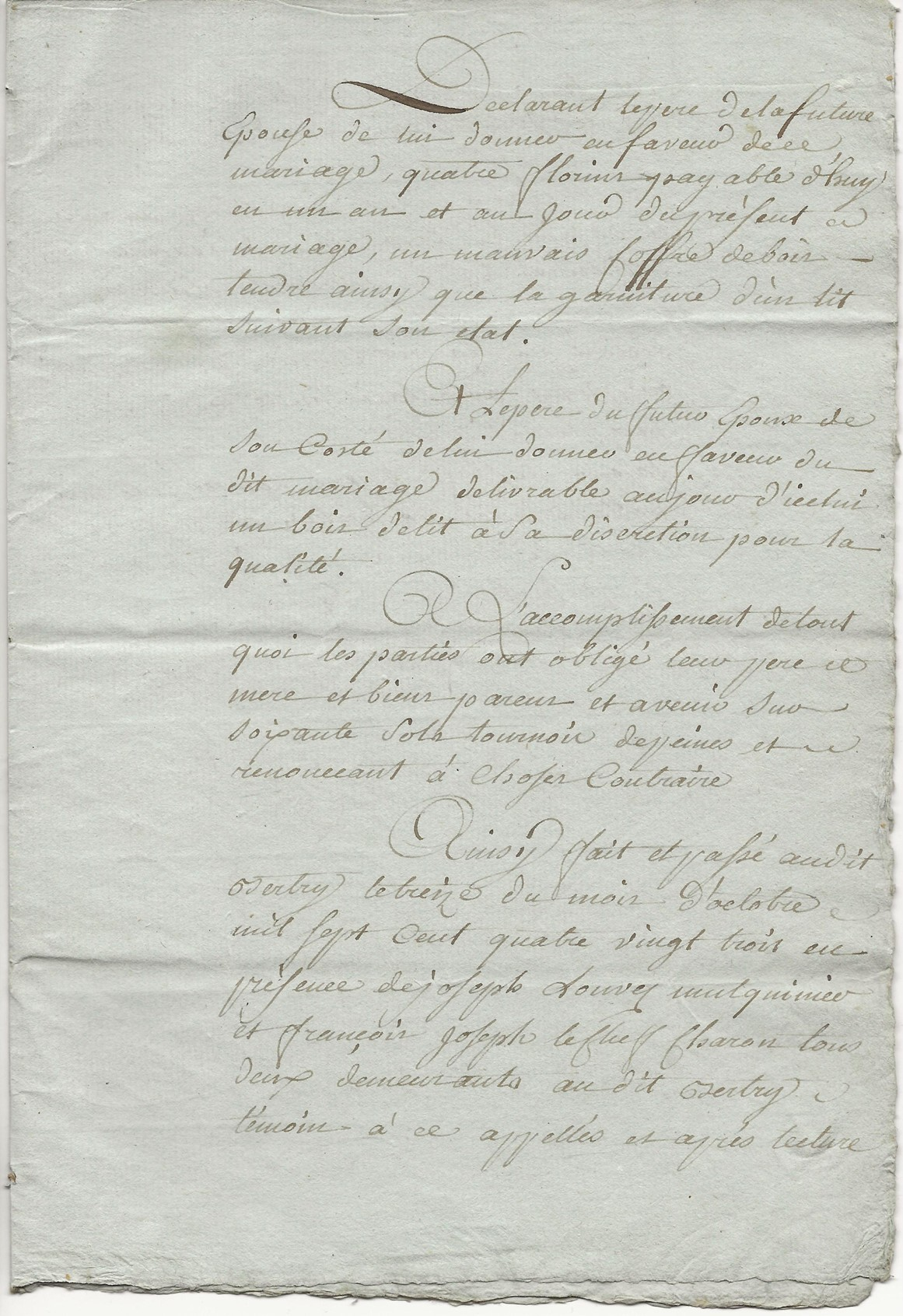 1788 contrat mariage seraphin taine x anne leduc 007