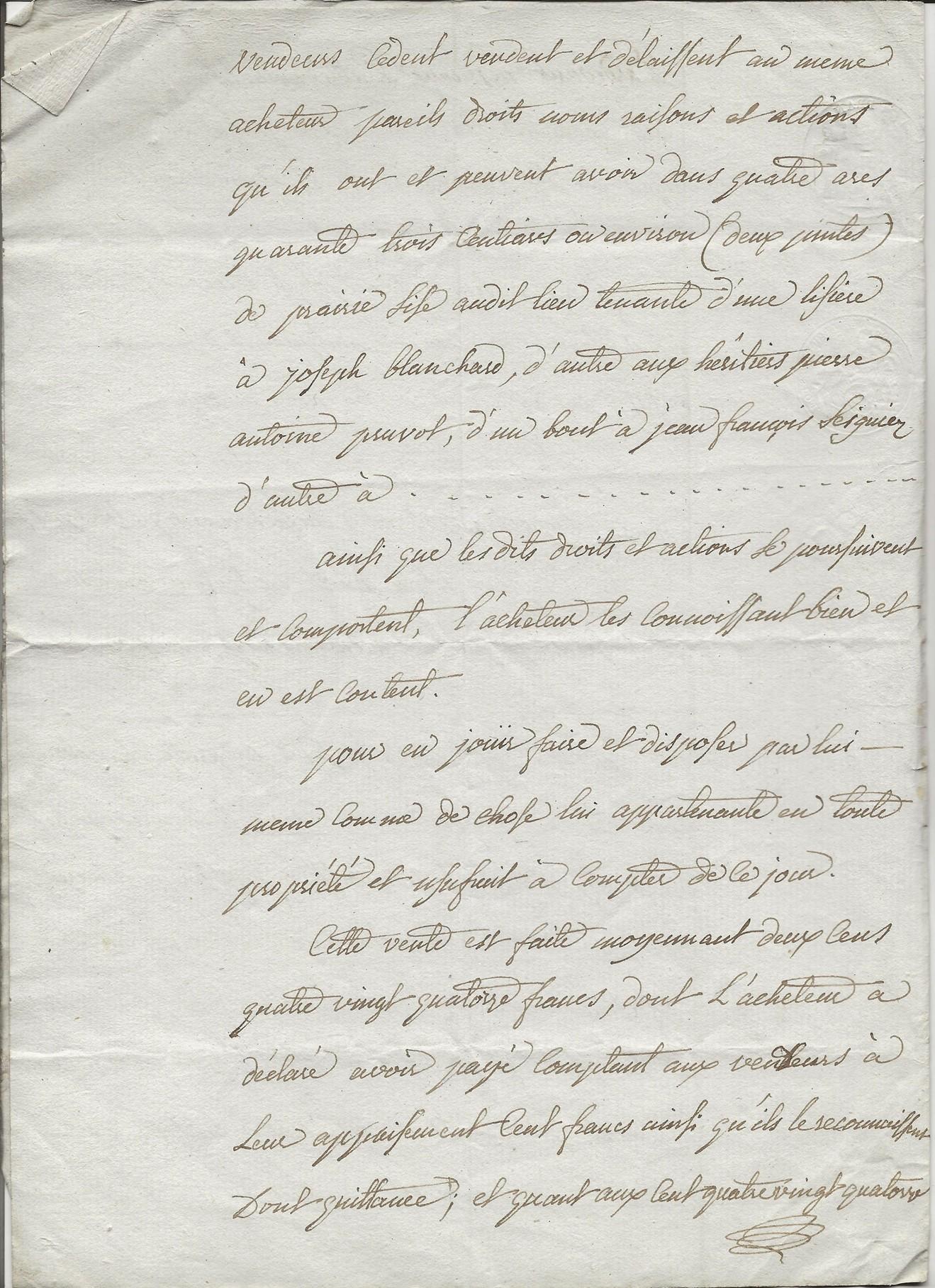 1814 vente terrains taine louvet a pierre joseph pruvot 002