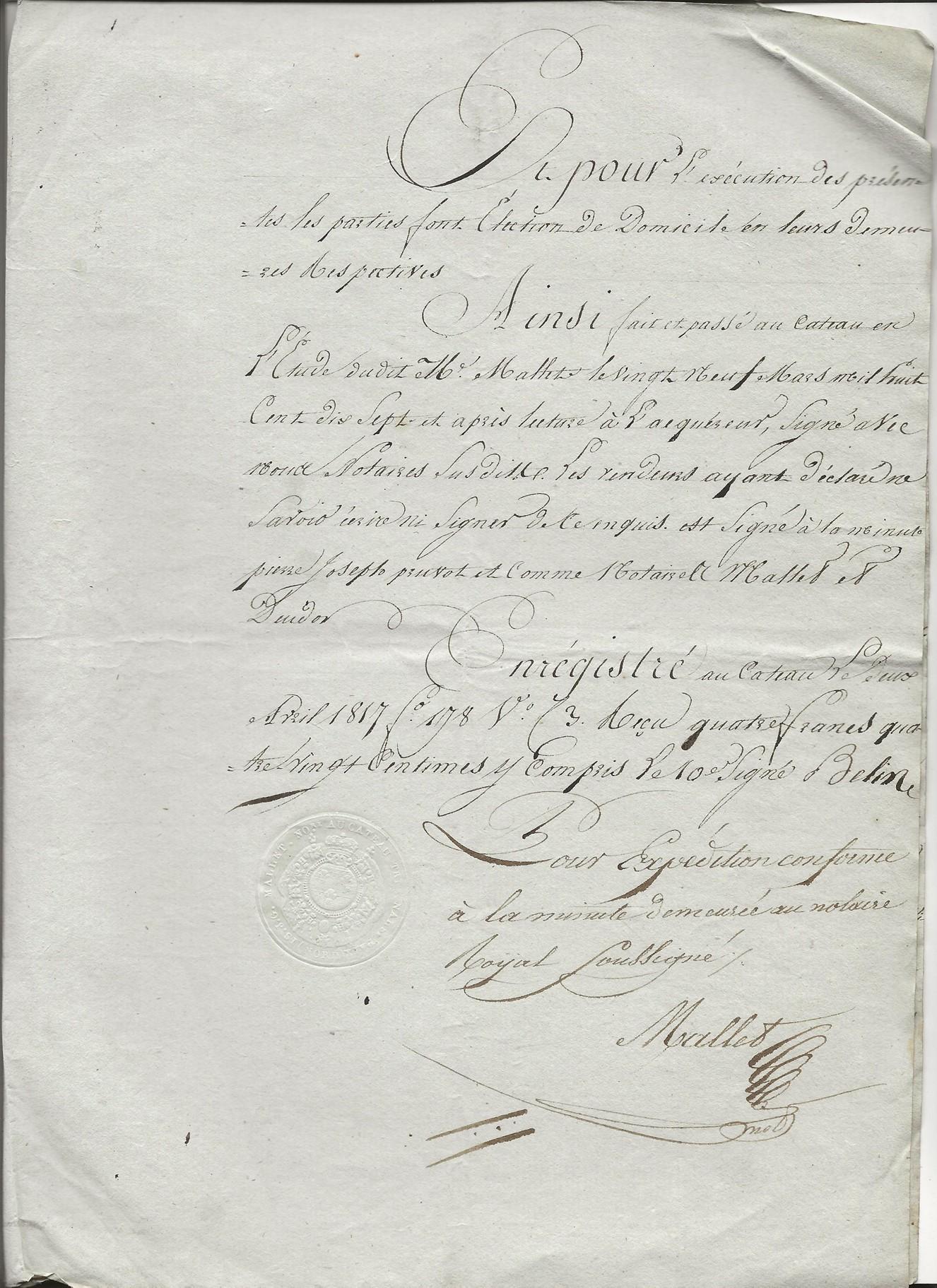 1817 vente taine a pruvot 003