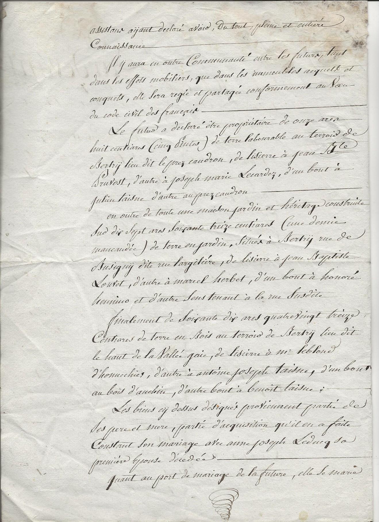 1820 contrat mariage pierre jr pruvot x blutte amelie 002