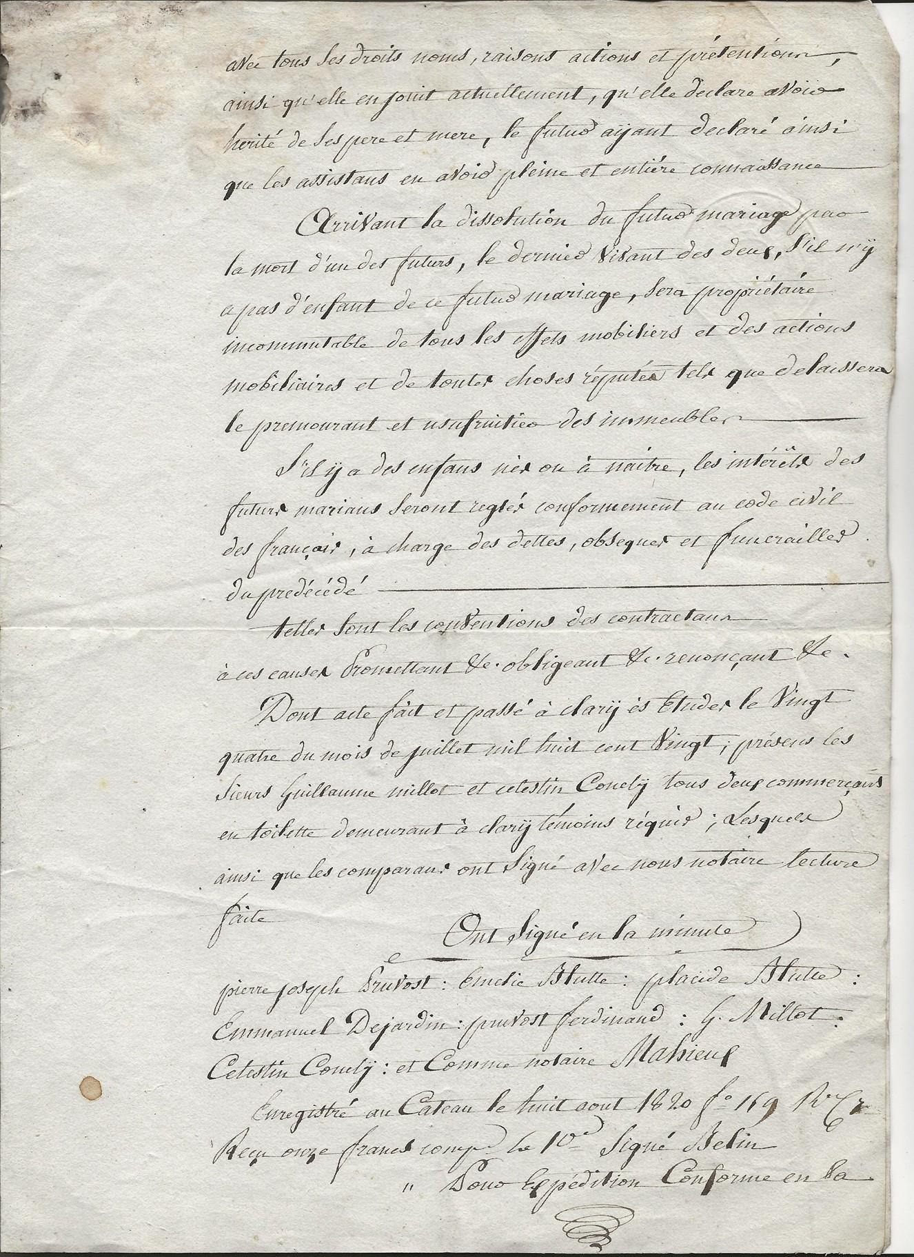 1820 contrat mariage pierre jr pruvot x blutte amelie 003