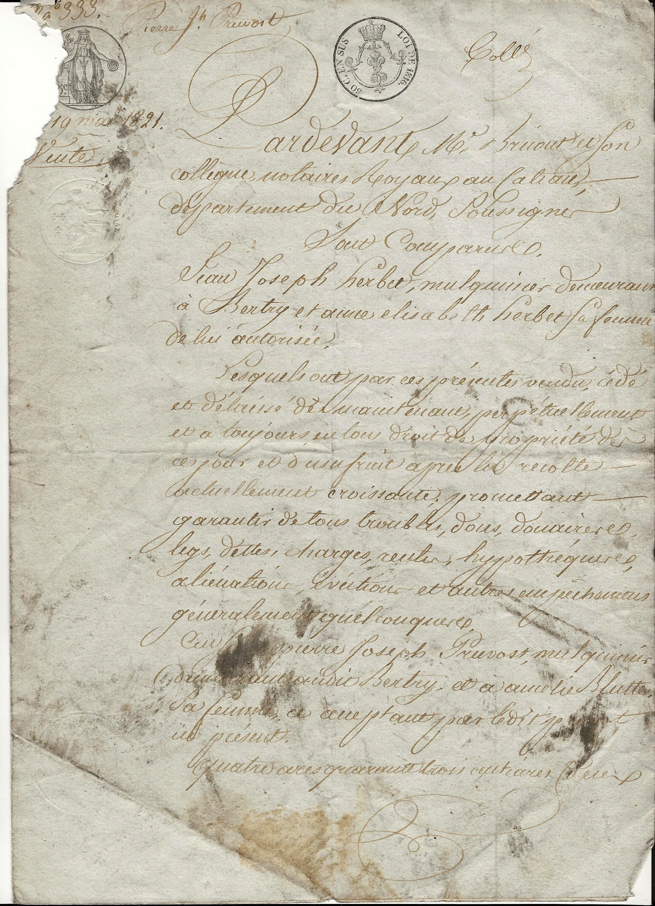 1821 vente herbet a pierre joseph pruvot 001