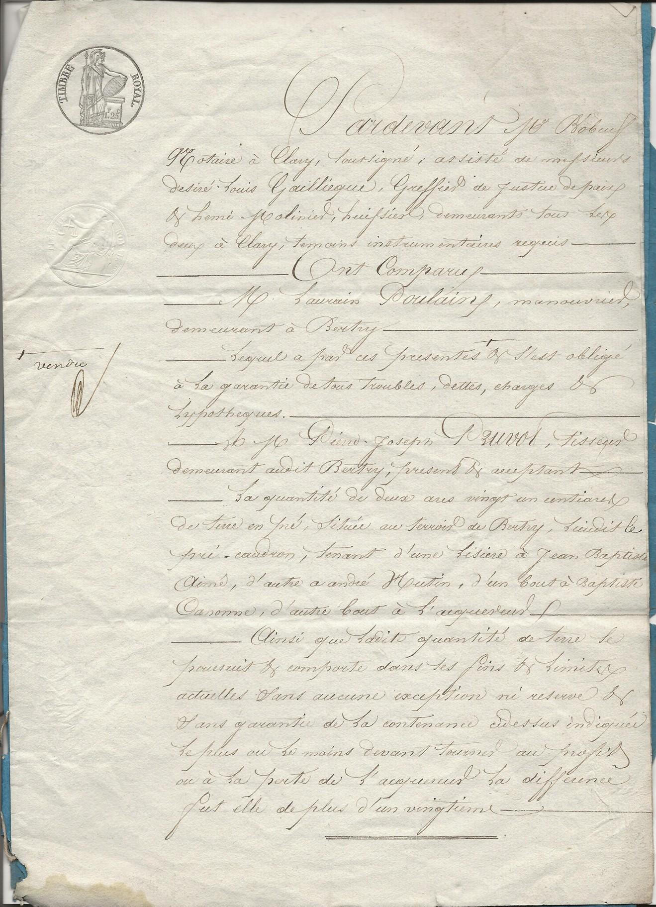 1846 vente laurain poulain a pierre jp pruvot 002