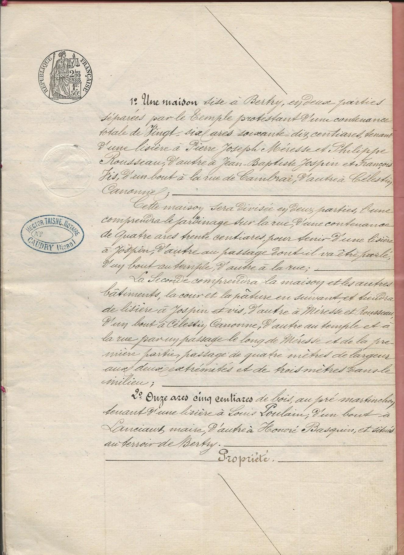 1854 vente adjucation vve poulain haimel a jeremy poulain 003