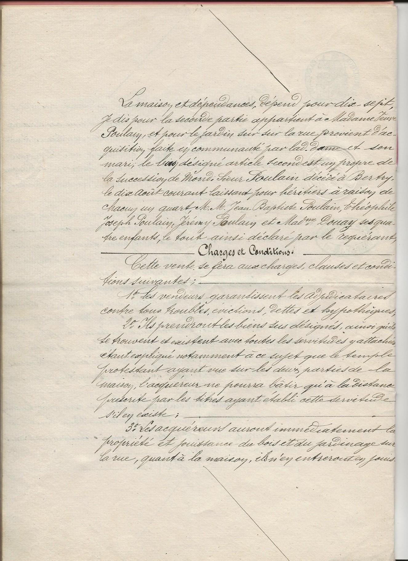 1854 vente adjucation vve poulain haimel a jeremy poulain 004