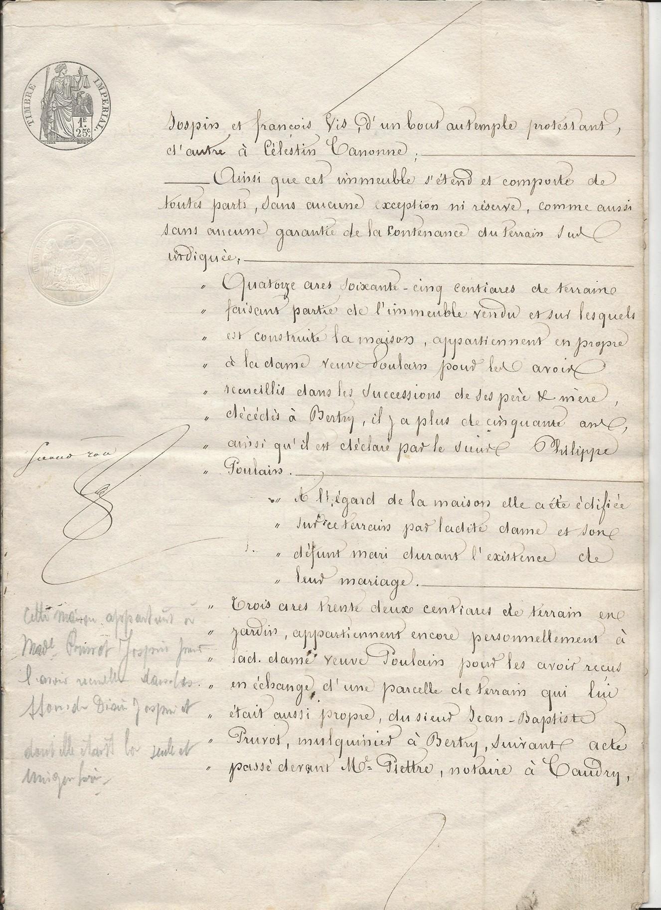 1854 vente vve et heritiers poulain a jospin 003