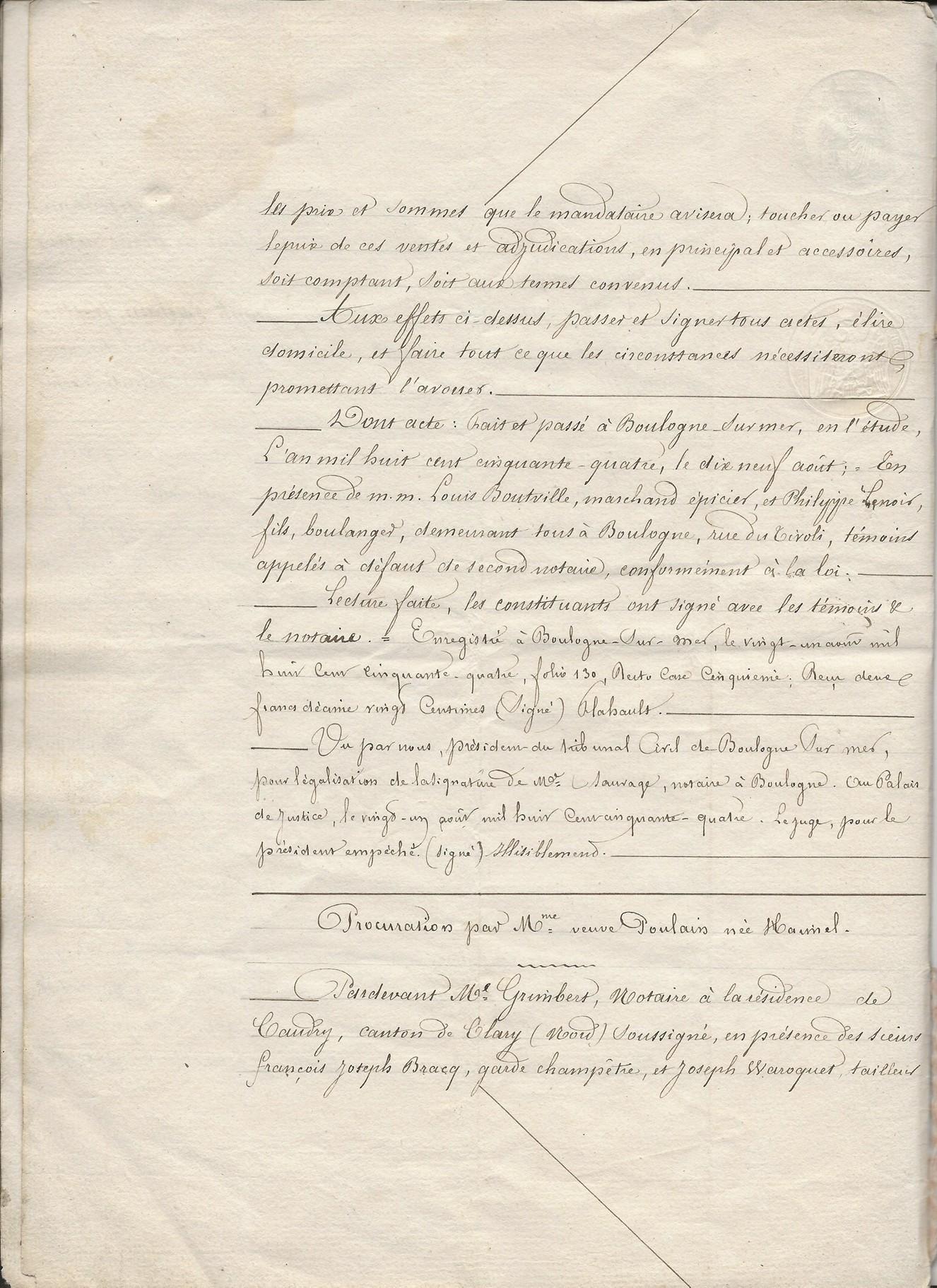 1854 vente vve et heritiers poulain a jospin 010