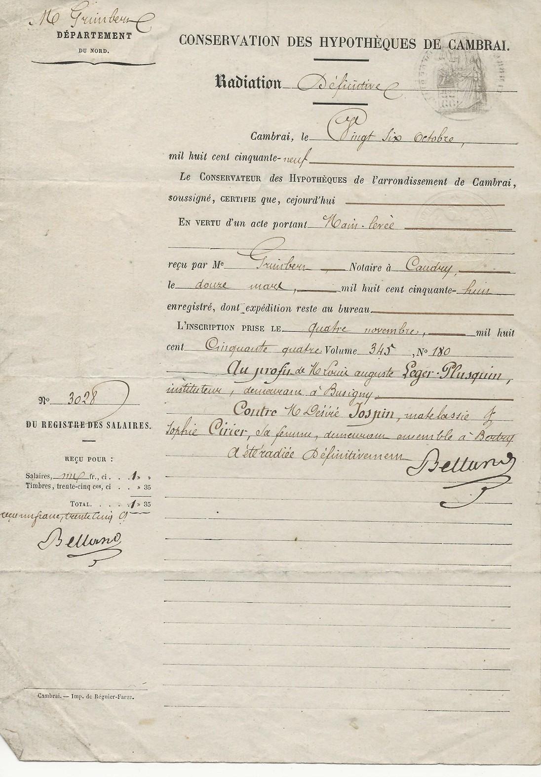 1859 main levee hypotheque desire jospin louis leger 001