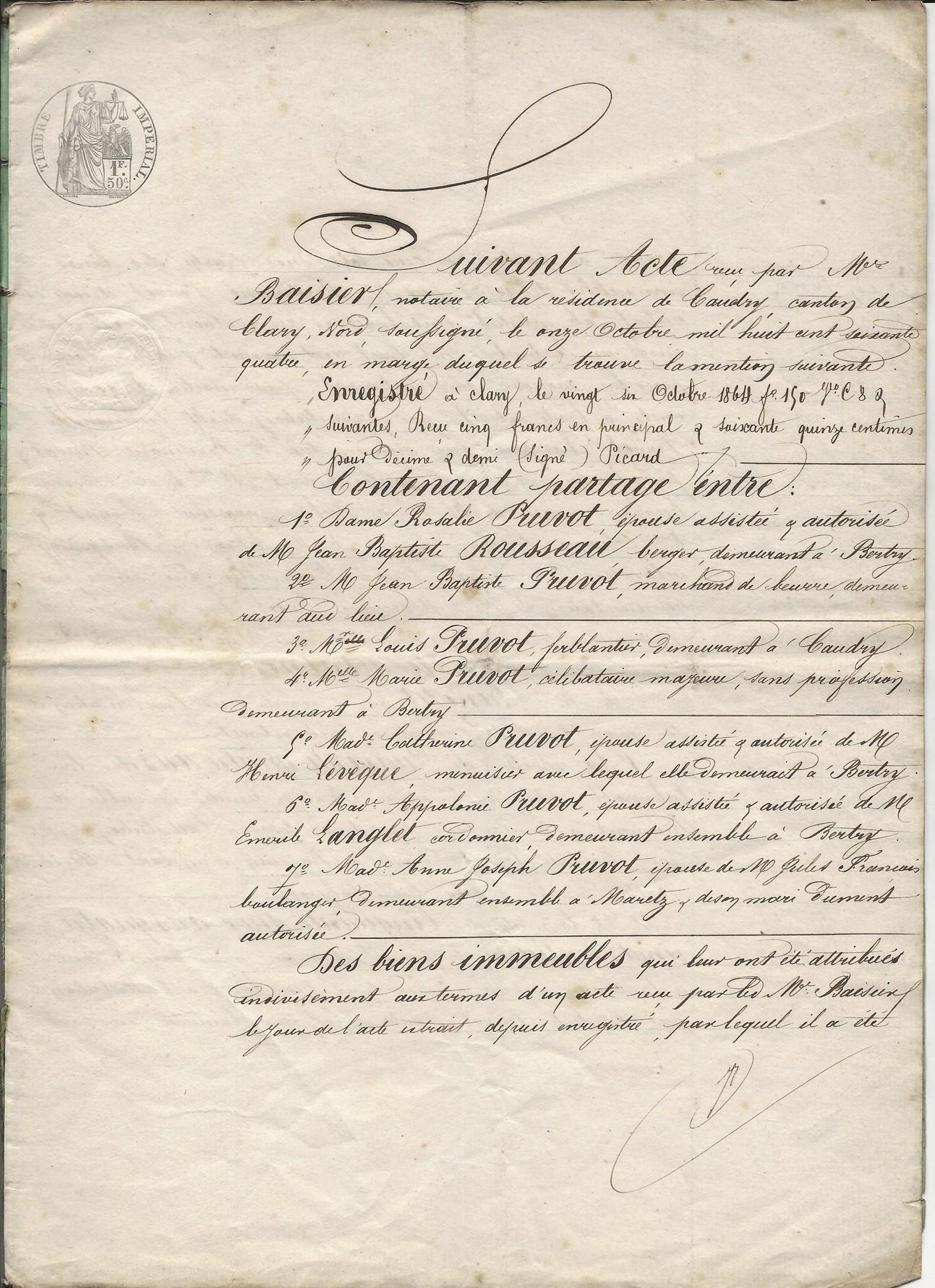 1864 succession partage de ferdinant pruvot 001
