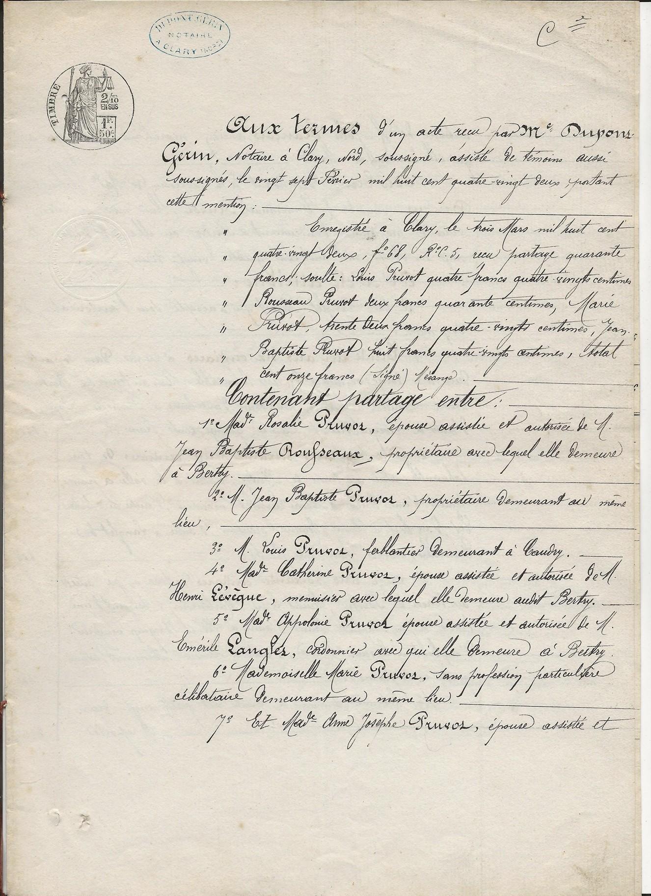 1882 succession partage de ch bricout veuve emmanuel pruvot 001