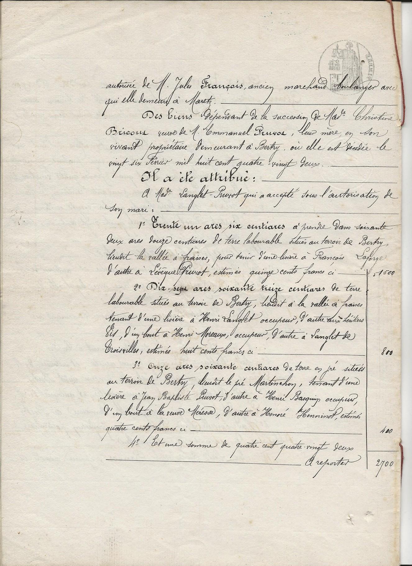 1882 succession partage de ch bricout veuve emmanuel pruvot 002
