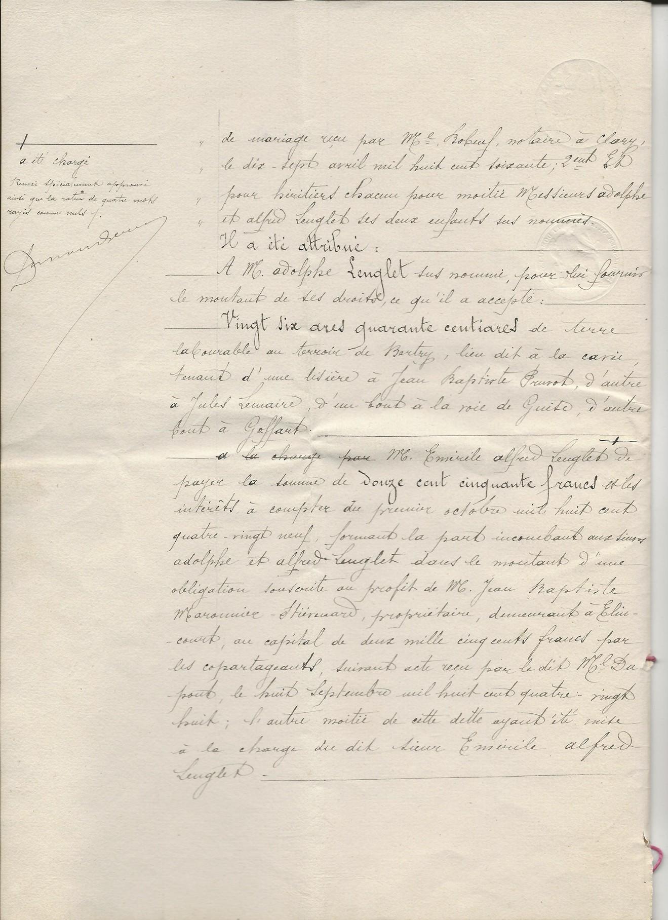 1889 succession de appolonie pruvot epouse lenglet emerile 002