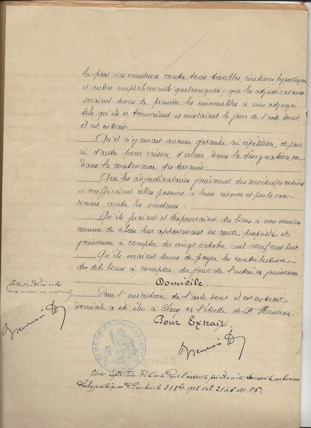 1908 adjudication vente biens alcide wanecq x elisabeth louvet 004