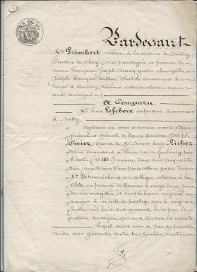 1849 vente terrrain amina ciriez a ses freres et soeurs 001