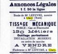 1921 metiers a vendre