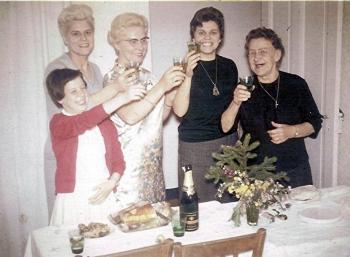 1967 noel dans l isere grand mere maman mado et nenette