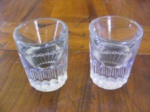2 verres gros cul de bistrot verres du patron xix i26374 00 540