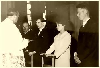 Alain Gilbert Chantal  Desoignies mariage