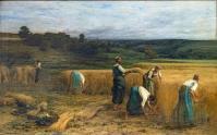 Beaux arts de carcassonne la moisson 1874 leon augustin lhermitte 122x205