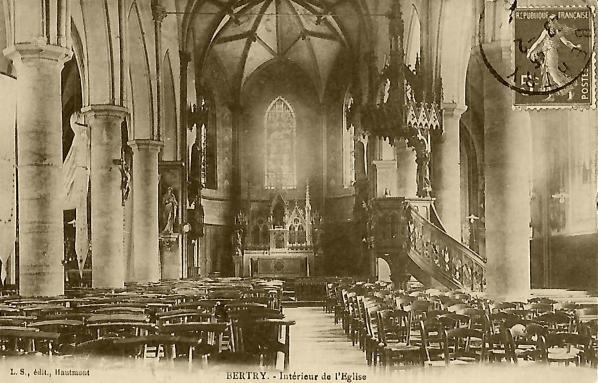 Bertry interieur eglise