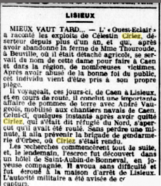 Ciriez celestin deserteur 1918