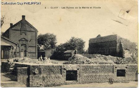 Clary ruines mairie