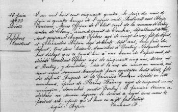 D lefebvre constant 1854