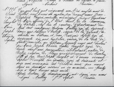 D lenglet marie joseph therese sophie 1851