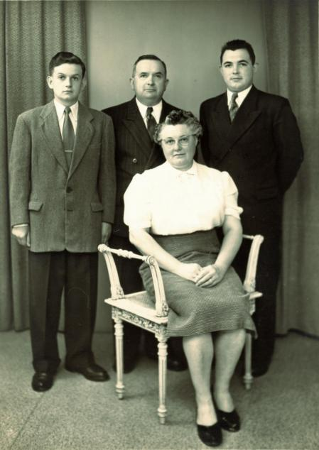 Emilien alfreda gerard et emile 1955