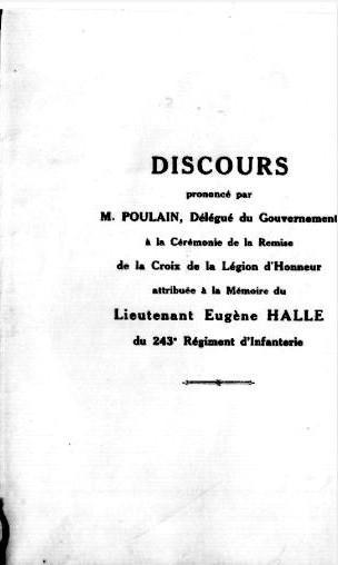 Legion d honneur 1925 halle eugene