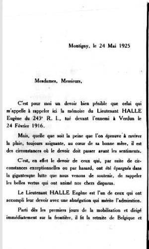 Legion d honneur 1925 halle eugene11