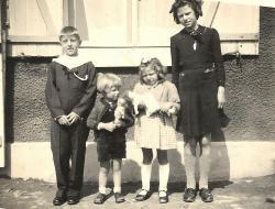 Sylvain, Marc, Adrienne et Madeleine