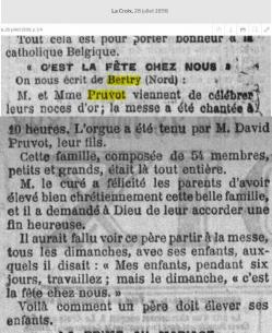 Noces d or pruvot 1898