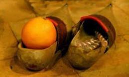 Orange sabot noel