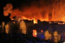 Pluvigner une chaumiere detruite par un incendie au golher