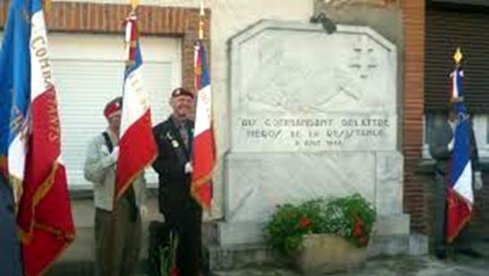 Stèle Commandant Delattre à Rieumes