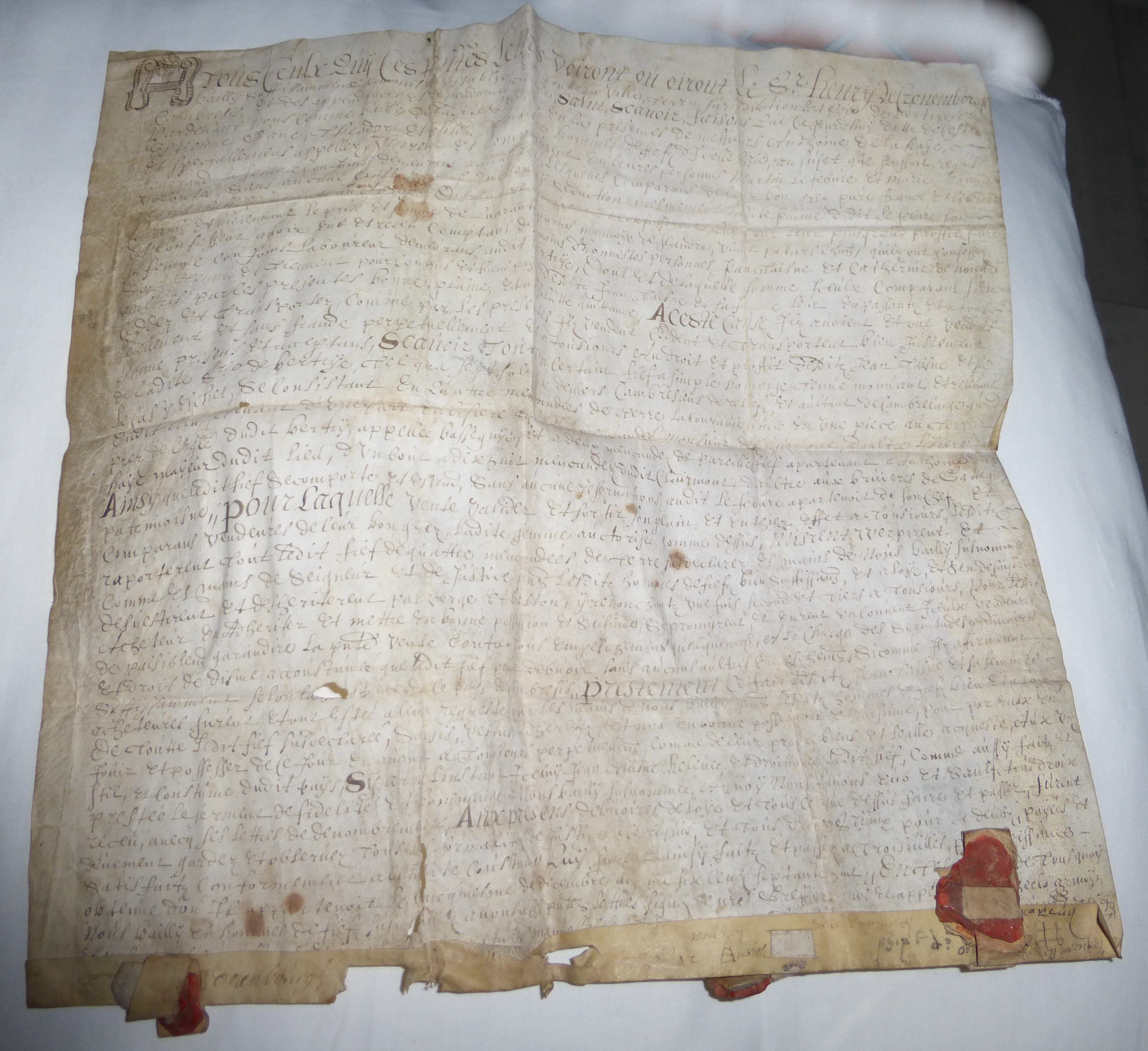 1678 vente vente entre martin lefebvre et taisne jean 1