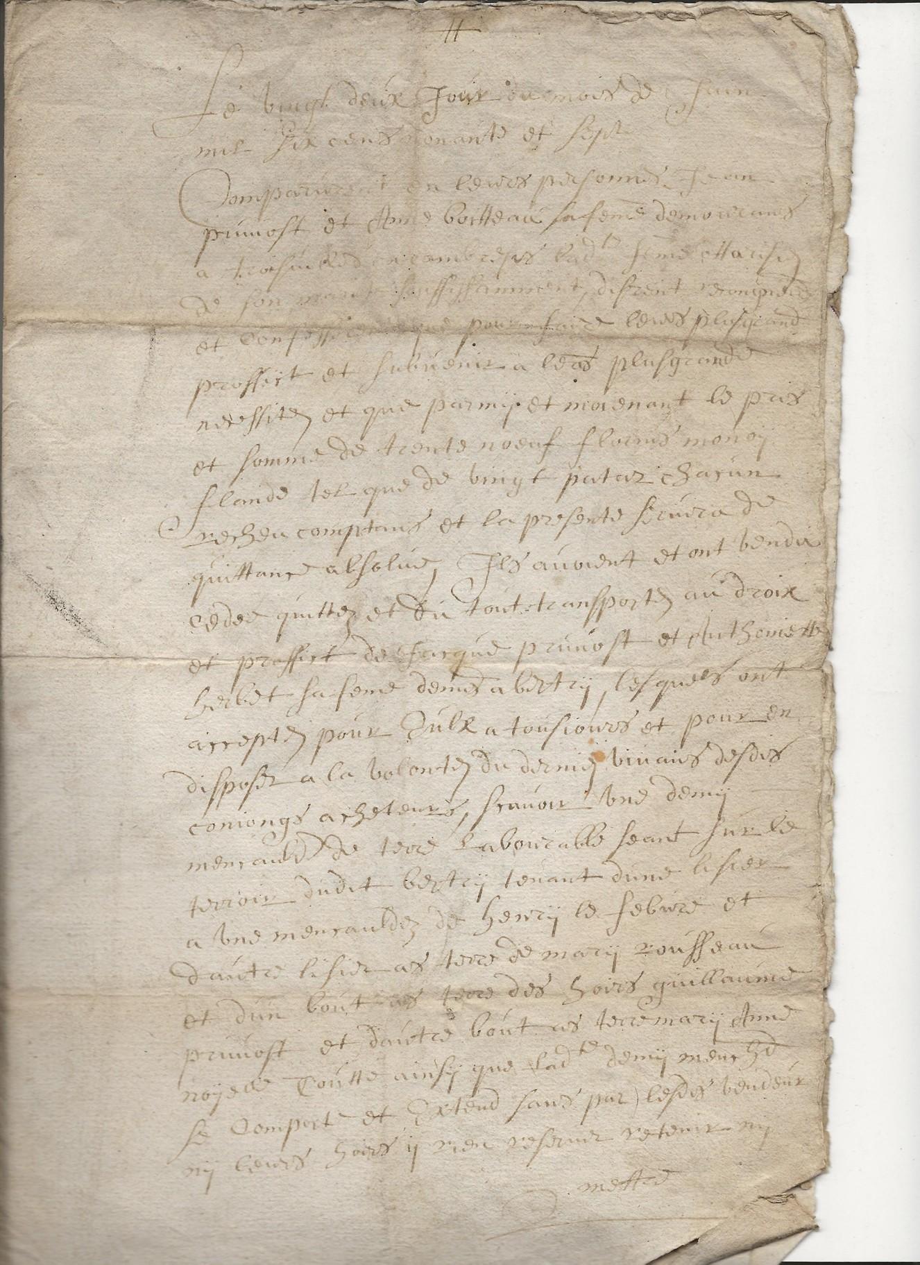 1697 acte concernant jean pruvot 2