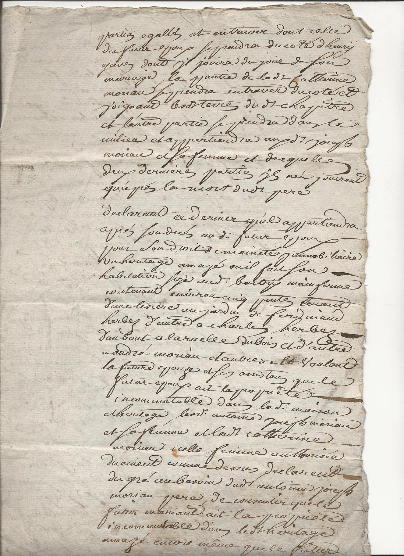 1772 acte partiel moriau jean guislain avec taine jeanne catherine 1