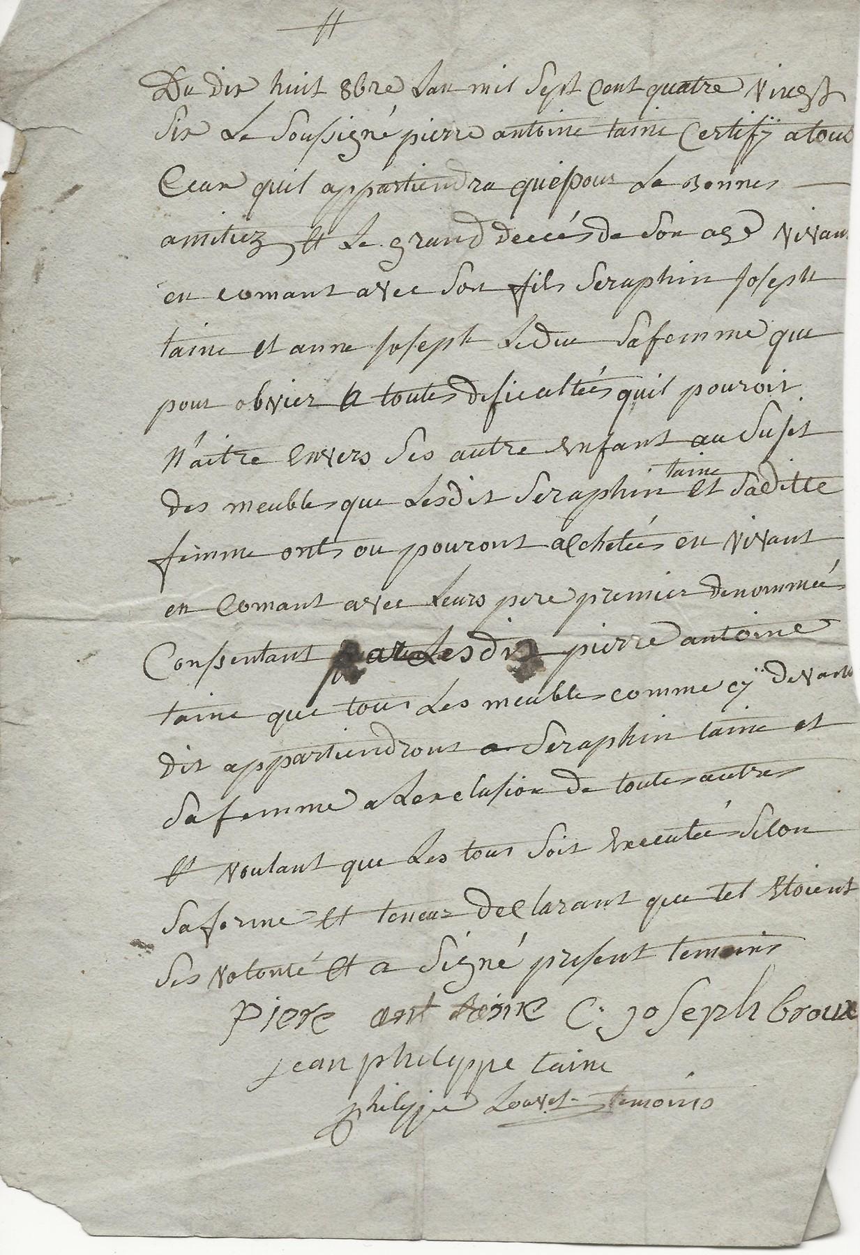 1786 testament pierre antoine taine 001