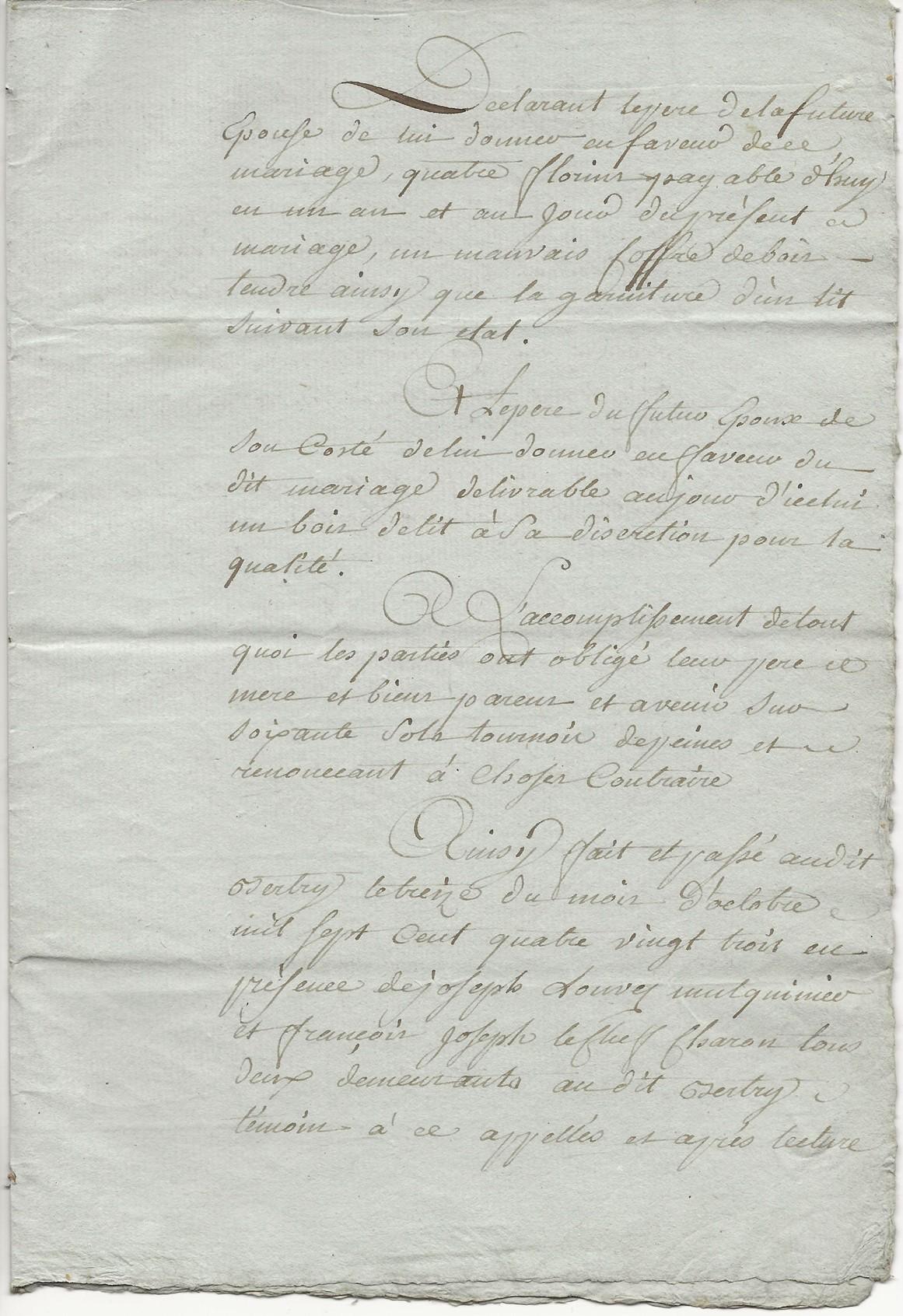 1788 contrat mariage seraphin taine x anne leduc 007