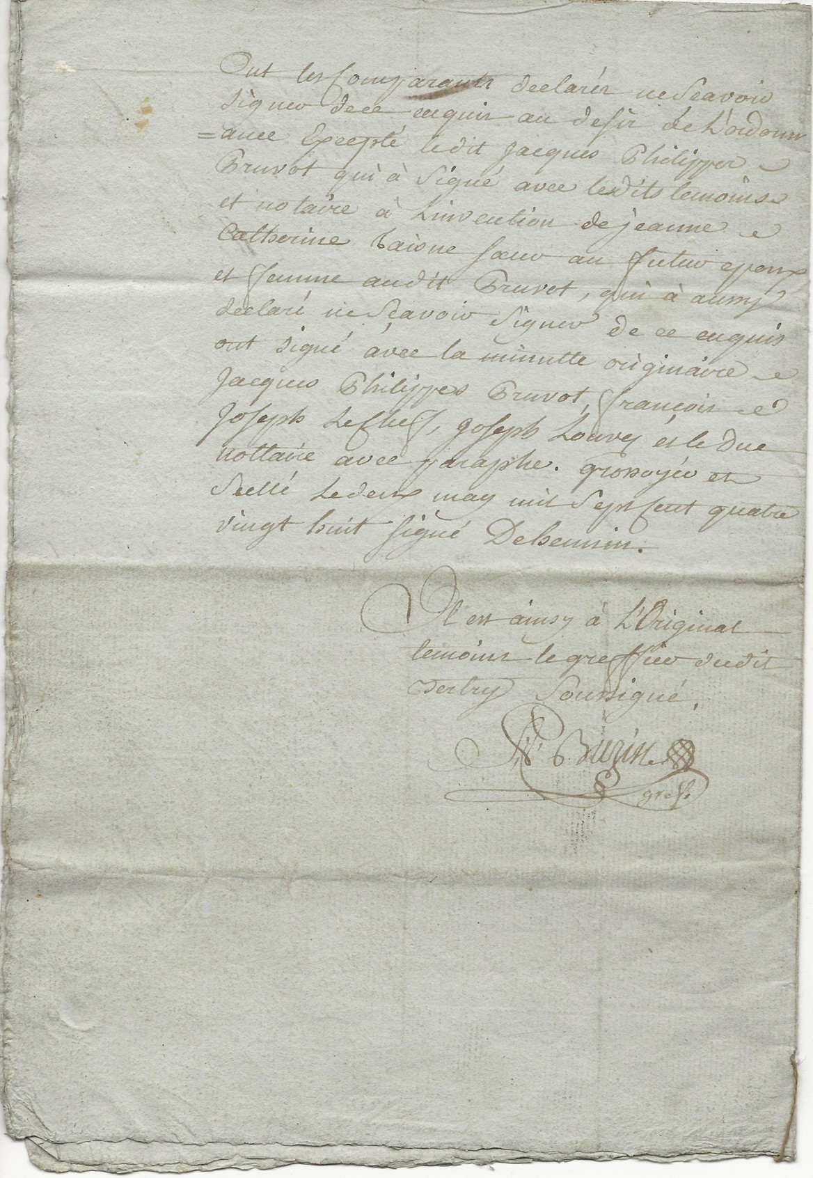 1788 contrat mariage seraphin taine x anne leduc 008