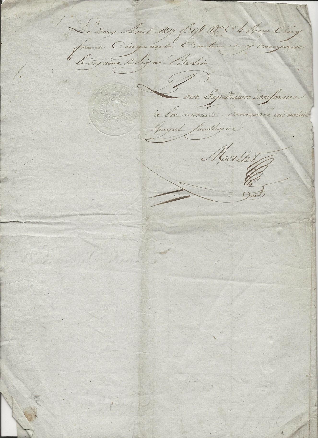 1817 partage biens antoine taine x florentine louvet 004