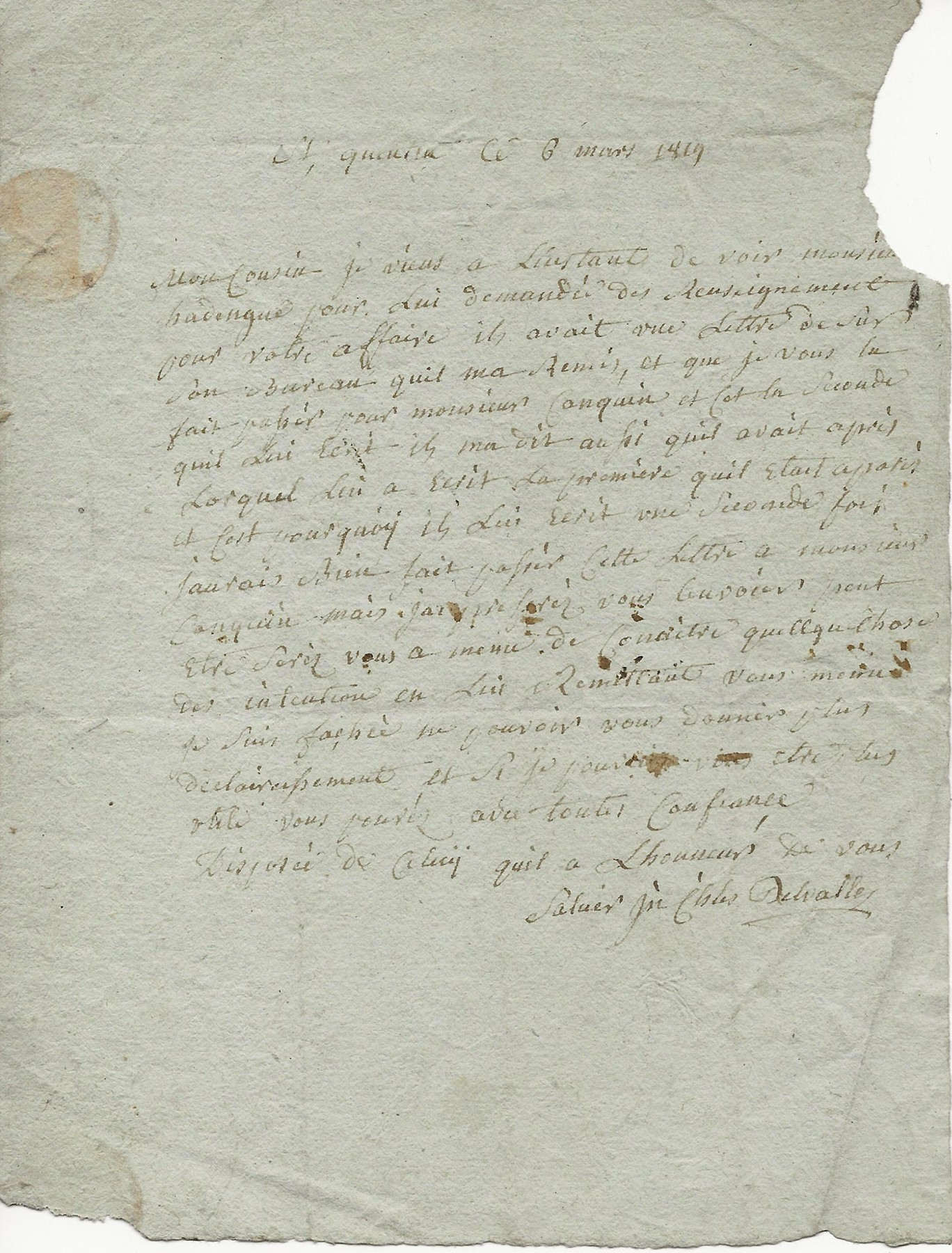 1819 lettre a mr blutte maretz 001