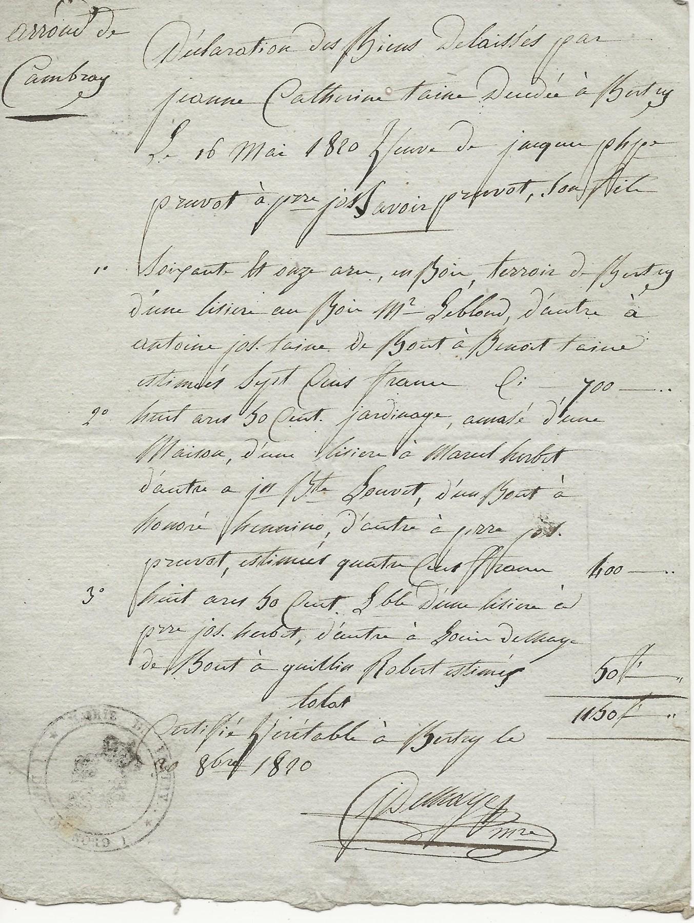 1820 declaration de biens jeanne catherine taine 001