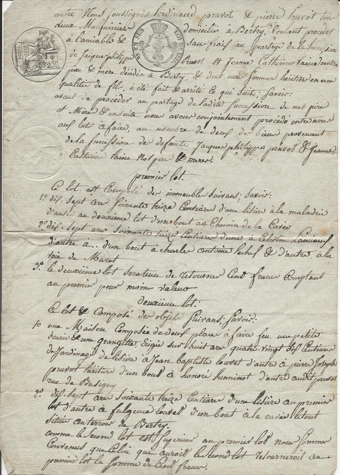 1820 partage succession parents ferdinand et pierre pruvot 001