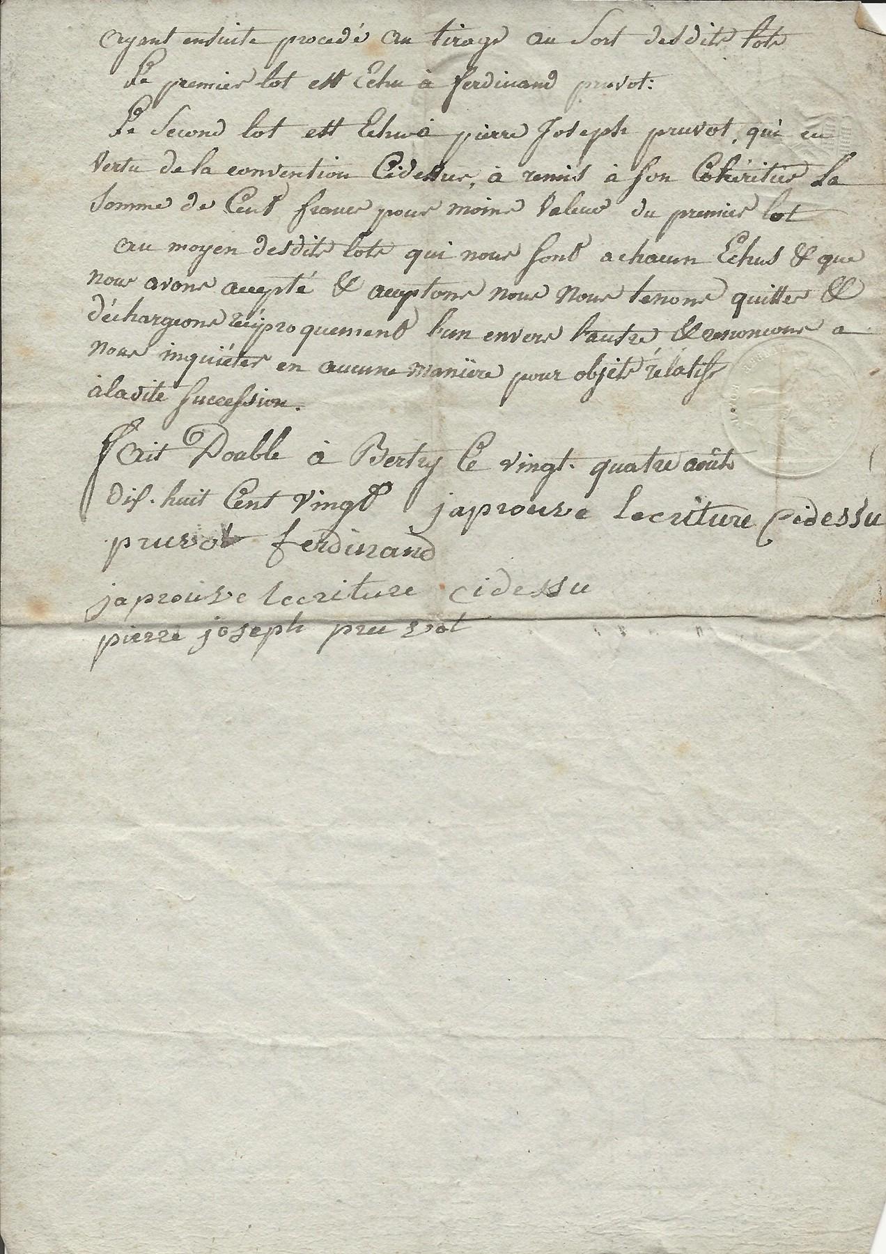 1820 partage succession parents ferdinand et pierre pruvot 002