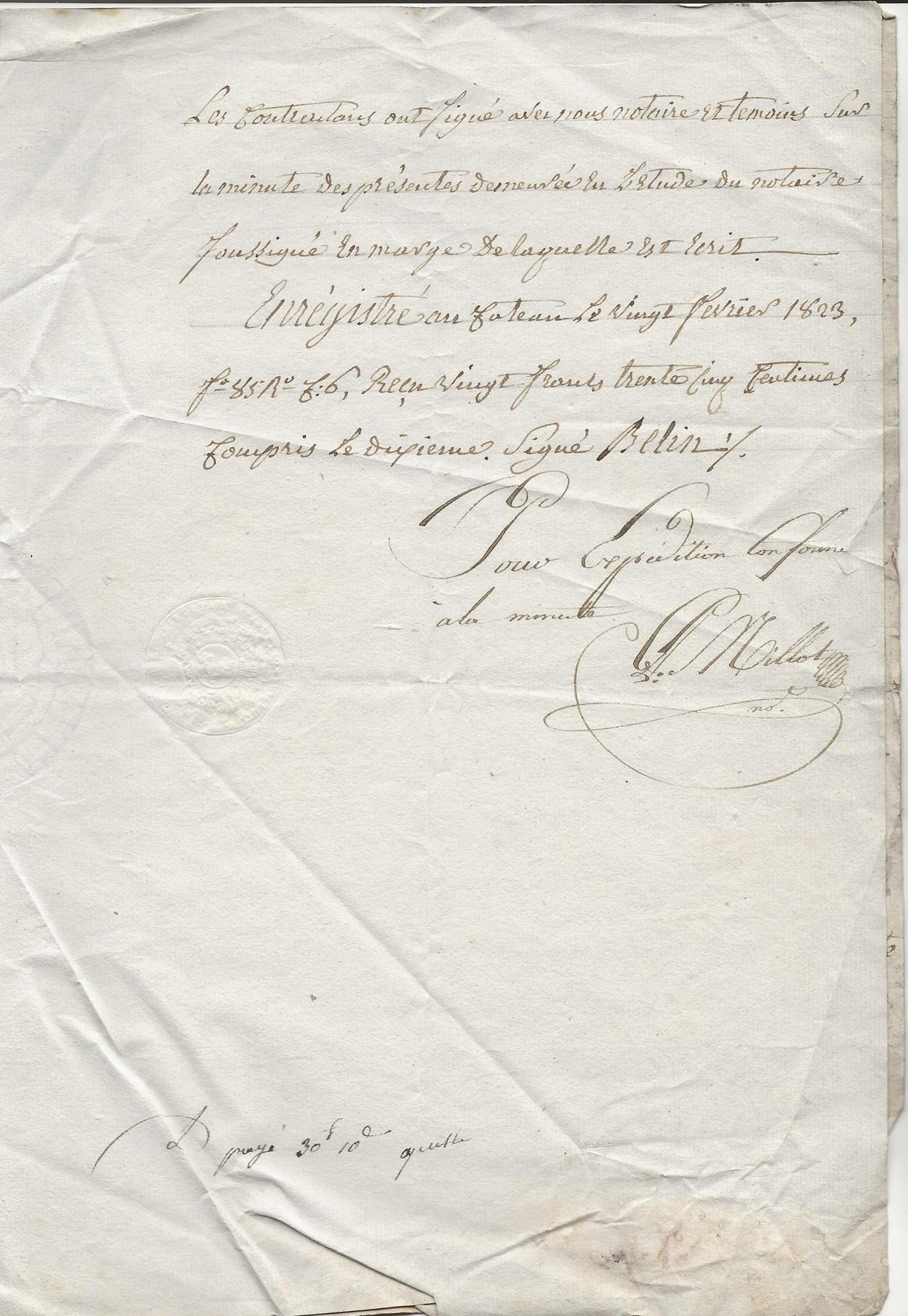 1823 vente terrain jacques delhaye a pierre jh pruvot 003